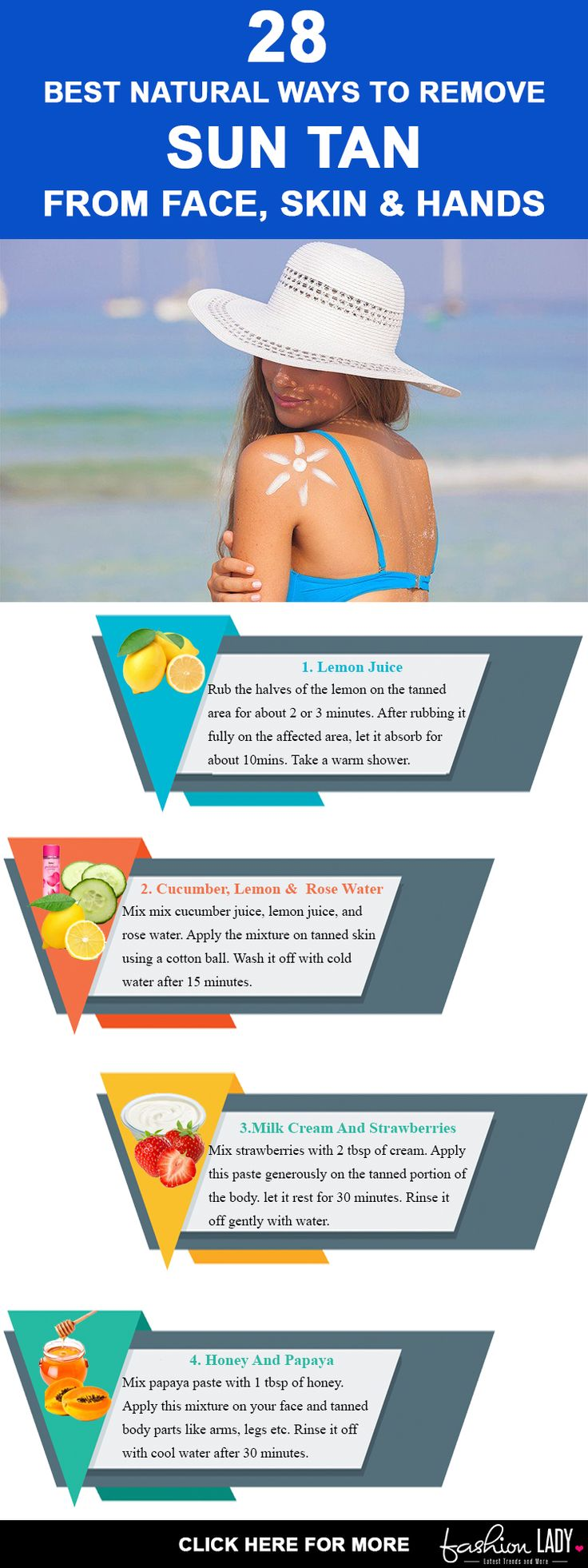 28 Best Natural Ways To Remove Sun Tan From Face, Skin & Hands