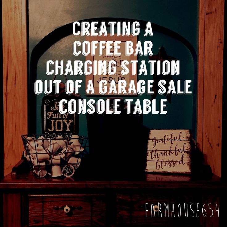 Creating a coffee bar charging station will help to keep the flat surfaces in the kitchen clutter-free!
