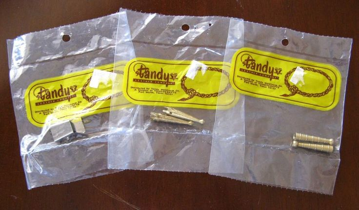 Vtg 5-Pc Lot Gilt Bolo Tie Tips Tandy Leather Company Unused in Sealed Pkg