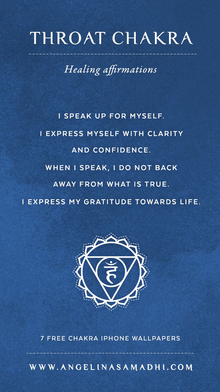 Throat Chakra Healing Affirmations – chakra affirmations, chakras, energy, healing, blockages, affirmations, positive affirmations, growth, om