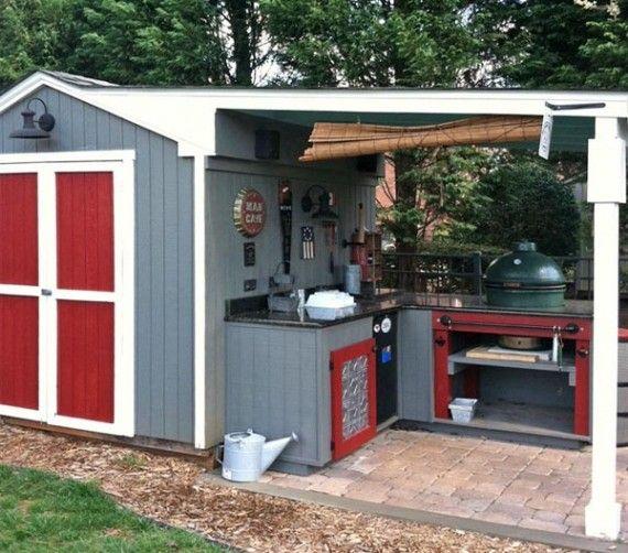 Storage bld with add on outdoor kitchen