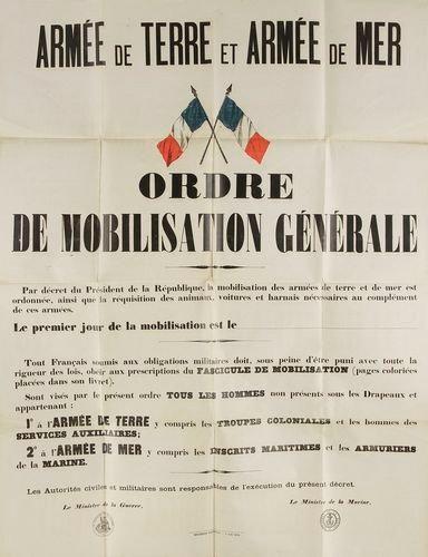 Deux affiches françaises de la 1ère Guerre Mondiale.: Armée de terre, Armée de mer