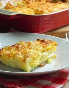 Laganije, jednostavnije i brže od ovoga ne može! Krompir, sir, luk, sve to zaliveno jajima i mlekom, lepo zapečeno u rerni, i eto ručk...
