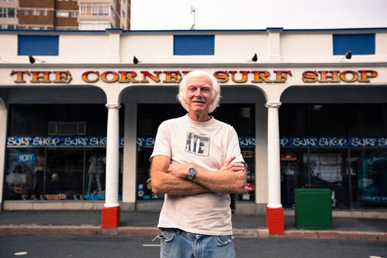 Peter Wright, owner of The Corner Surf Shop (since 1970) has seen the Muizenberg surf scene grow from humble beginnings to a hive of activity. #muizenberg #surfing #CornerSurfShop