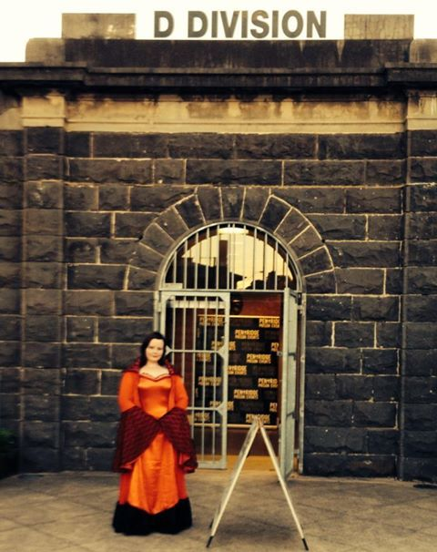 Our lovely  tour guide Angela on the Pentridge Prison Ghost Tour.
