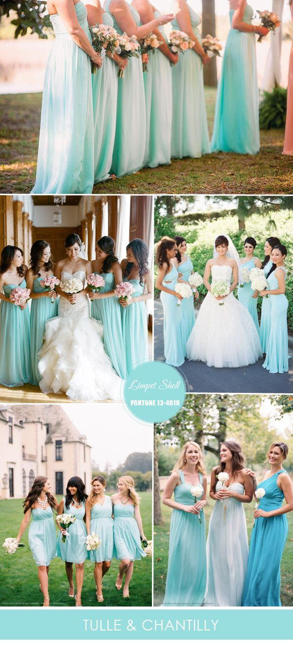 limpet shell aqua bridesmaid dresses trends for spring summer weddings 2016 | www.endorajewellery.etsy.com