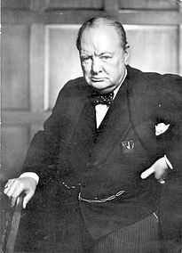 Churchill after his speech to the Parliament of Canada in December of 1941