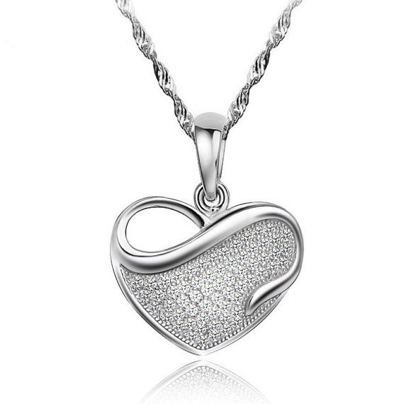 Sterling Silver Pendant Style 20 Infinity Love Heart by ATHiNGZ, $12.99