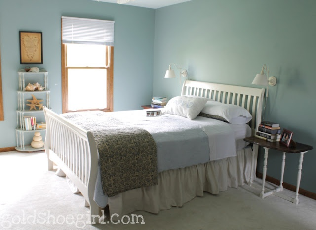Diy Dropcloth Bed Skirt Use The Easy Gathering Tape From