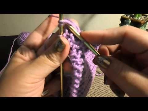 hacer un cuello difernte con un rectangulo de tejido a dos agujas, knitting