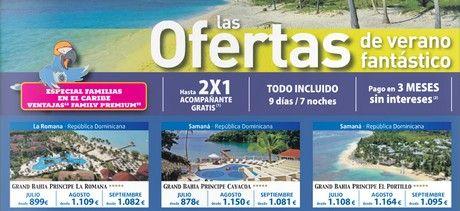 ofertas verano fantastico bahia principe caribe 2x1 viajeselcorteingles ofertas catalogo promocion productos julio 2014 rebajas