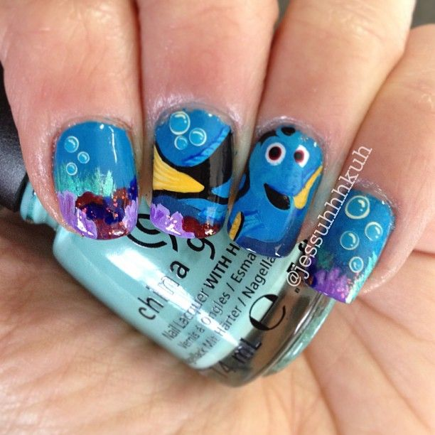 The 9 best images about finding dori nail art on pinterest nail jessuhhhkuh dory nail nails nailart prinsesfo Gallery