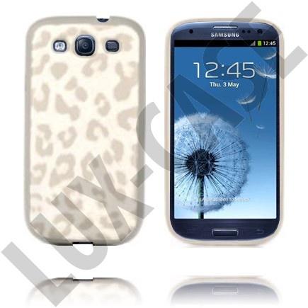 Leopard (Hvit) Samsung Galaxy S3 Deksel