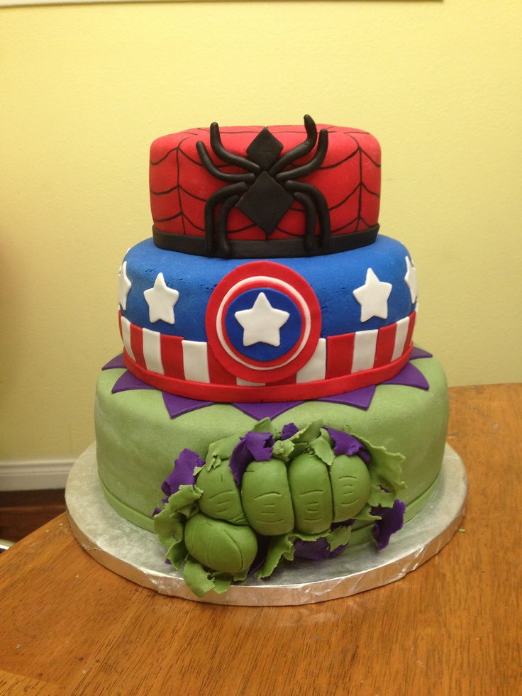 1000+ images about Marvel cake on Pinterest   Birthday ...