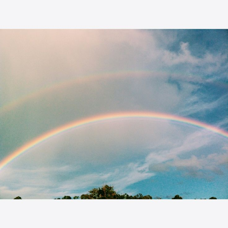 Double rainbow! #rainbow #nature