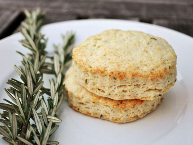 These tender scones marry the bright citrus notes of lemon with piney rosemary. Serve them plain or spread with some seeded raspberry jam.