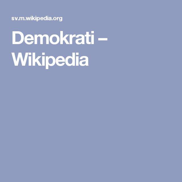 Demokrati – Wikipedia