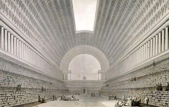Étienne-Louis Boullée - 2º projet por la bibliotheque du roi 1785