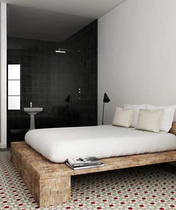 Die besten 25+ Bett holz Ideen auf Pinterest Süße Wohnheimideen - schlafzimmer mit badezimmer