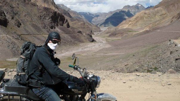 Pat and the Yak in Spiti Valley, India