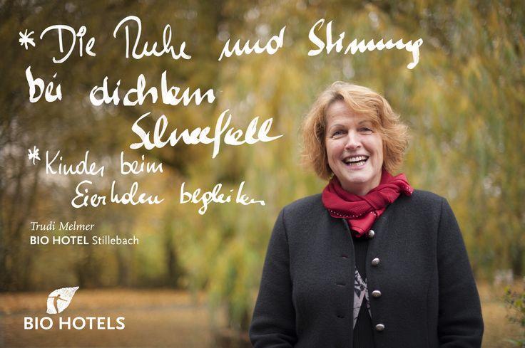 Trudi Melmer, Ihre Gastgeberin im #Biohotel Stillebach *** im #Pitztal #Tirol