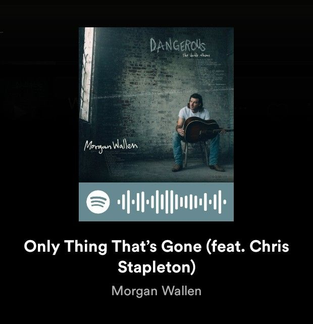 Morgan Wallen Only Thing That S Gone Spotify In 2021 Morgan Wallen Spotify Cover Songs