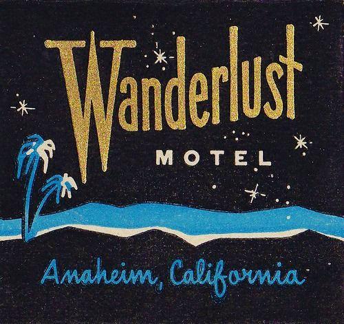 Wanderlust Motel Matchbook Cover, c.1960s