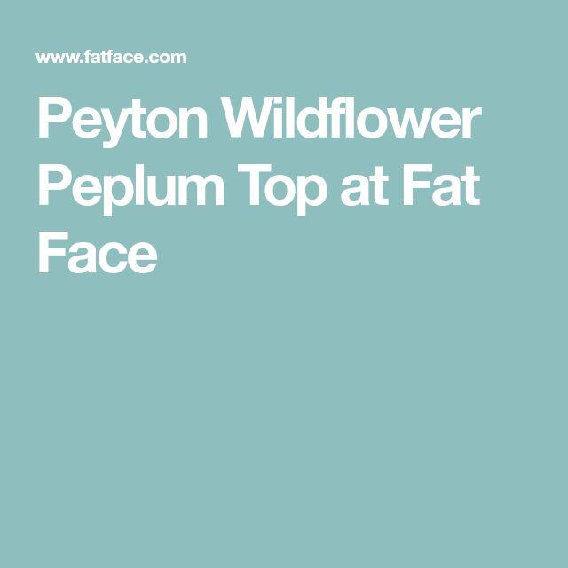 Peyton Wildflower Peplum TopatFat Face