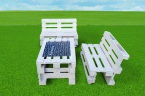 gartenmöbel europaletten Möbel aus Paletten gartenbank weiß