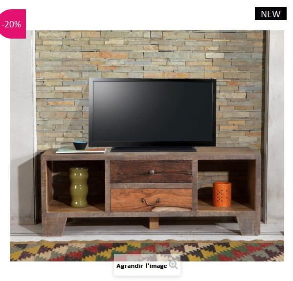 Atylia meuble tv top meuble tv laqu noir achatvente for Atylia meuble tv