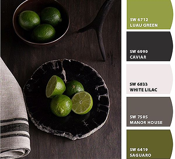 I love green with gray.  Maybe that's why it's a theme that runs through my home.