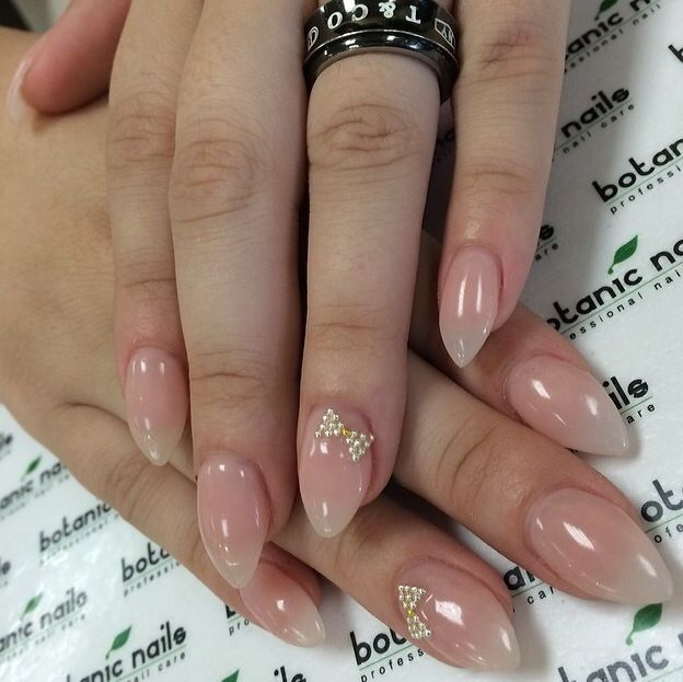Classy stilletto clear simple nails