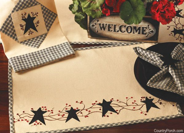 India Home Fashions Star 'n Berries Kitchen Decorating Theme