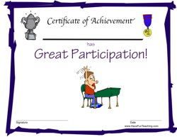 Participation Award for Boys - Have Fun Teaching