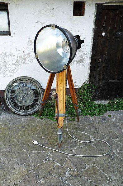 Vintage Industrial Stativlampe Stehlampe Von Gerne Wieder Auf DaWanda Factory