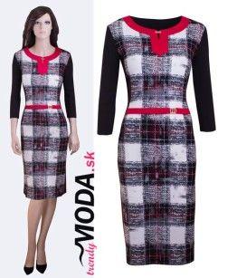 Úpletve šaty do práce - trendymoda.sk