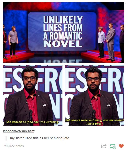 Mock the Week: unlikely lines from a romantic novel.