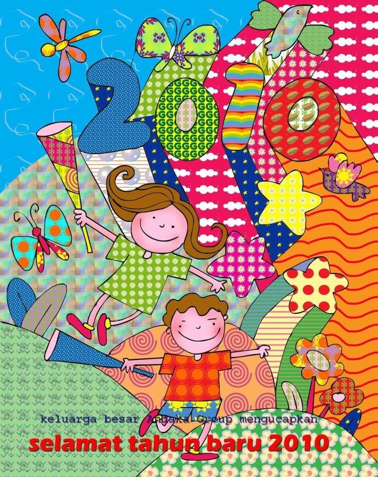 Gambar Kartu Ucapan Tahun Baru Kartun