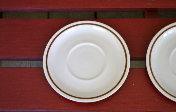 Vintage Camelot Stoneware Sandstone Color 6 inch Saucer Set of 2 Japan Replacement Panchosporch