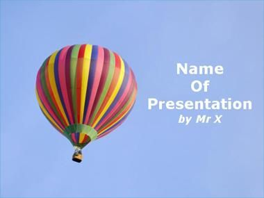 Colorful Balloon Powerpoint Presentation Template