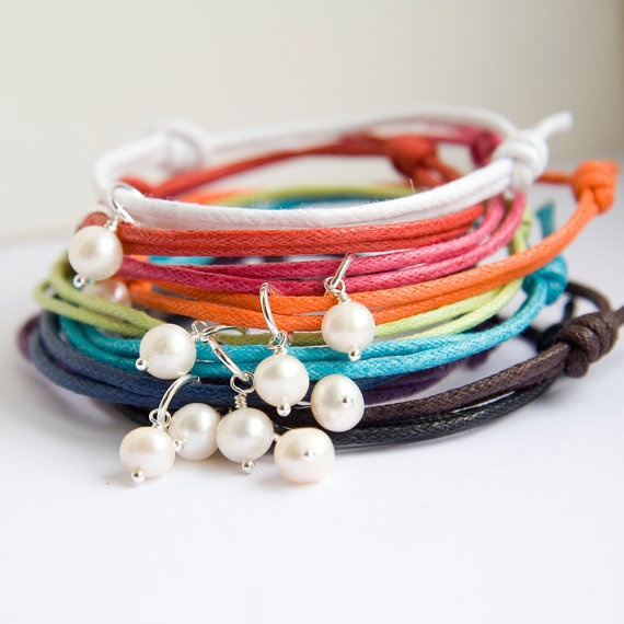 Friendship bracelets are available in sets of 5 or 10 - great for birthdays or perhaps to give individually as favours for a bridal shower, hen party or baby shower xo