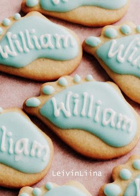 Christening Cookies for Baby Boy