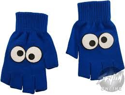 Image result for cookie monster gloves