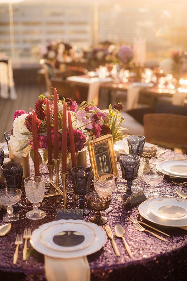 2618 best wedding table ideas images on pinterest floral vintage elegance meets hollywood wedding glam junglespirit Image collections