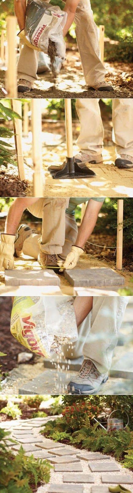 Alternative Gardning: How to build a paver walkway