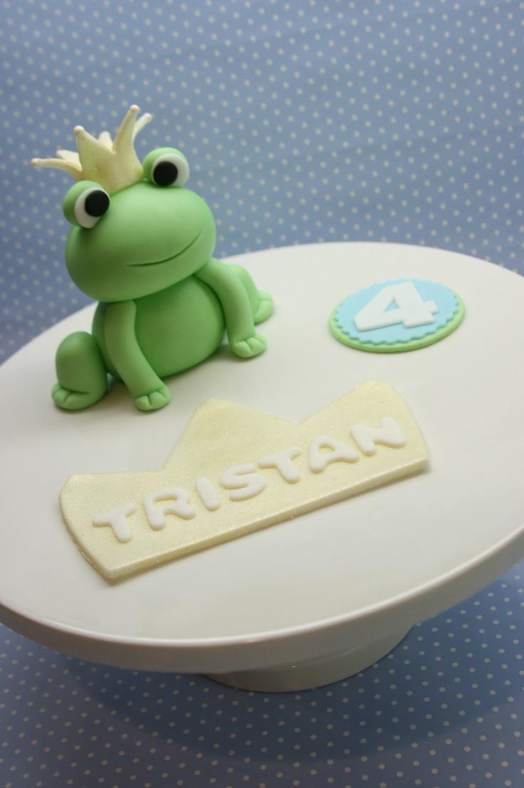 Prince Frog Cake Topper Set. $50.00, via Etsy.