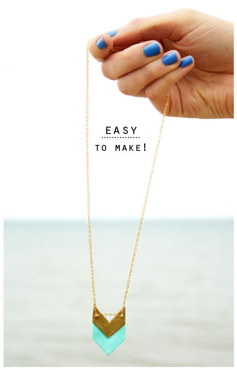 DIY Geometric Necklaces 2.