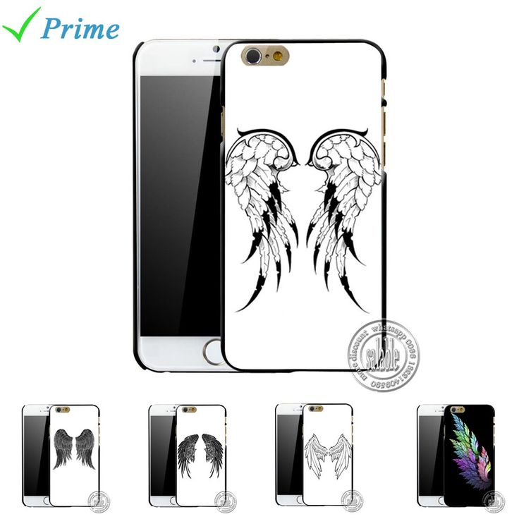 Beautiful Angel Wings Phone Case Printed Mobile Phone Cover for iphone 4 4s 5 5s 5c 6 6 plus 4.7 5.5 inch