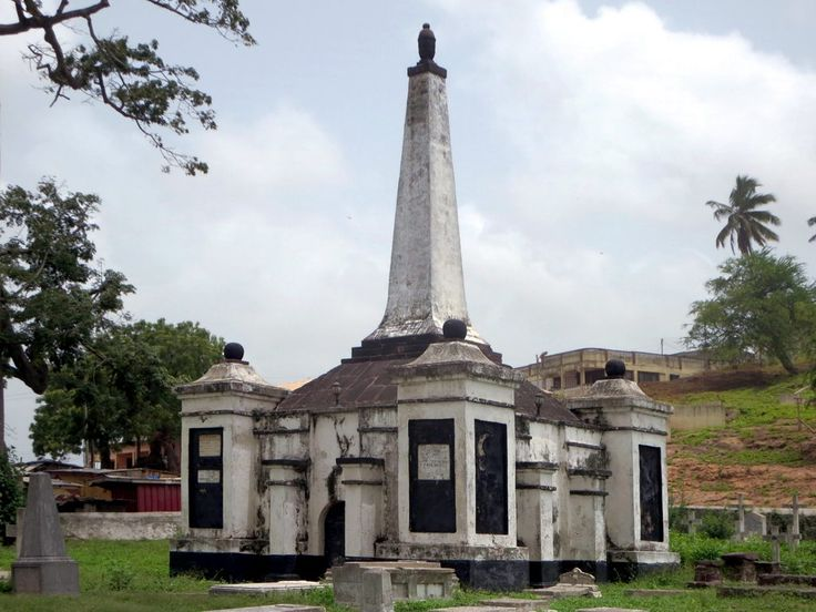 The Old Dutch Cemetery at Elmina, Ghana, contains a monument to Lieutenant J.C.W.M. Joost, a colonial official killed in a clash with Asafo Company warriors in 1872.