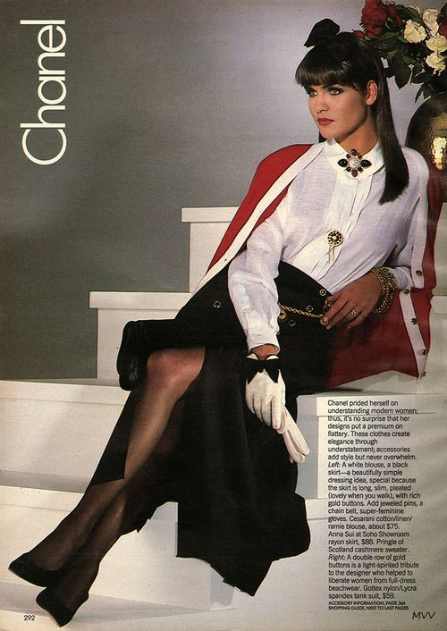 Glamour Magazine April 1986 Chanel Vintage Fashion Pinterest Glamour Magazine Glamour